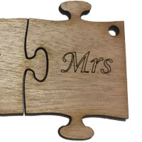 Wooden Ms Puzzle [+€1.00]